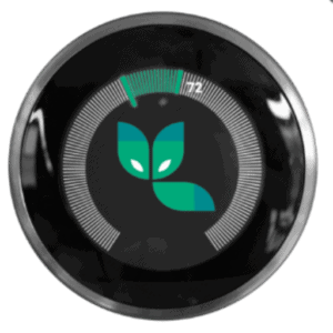 Greenfox Services logo inside of programmable thermostat.